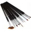10pcs nail art brushes set