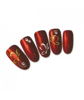 Stickers d'ongles water decals nail art T330 gold