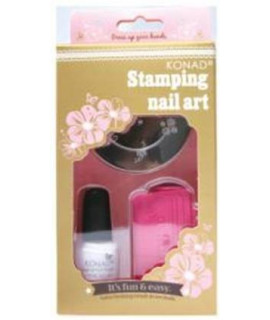 Kit stamping nail art konad bronze