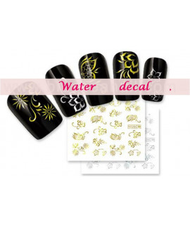 Stickers d'ongles water decals nail art Y026 C OR
