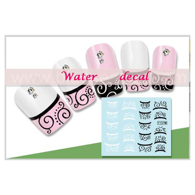 stickers d 39 ongles water decals nail art y137a ventes r serv es. Black Bedroom Furniture Sets. Home Design Ideas