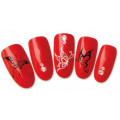 Stickers d'ongles water decals nail art divers papillon