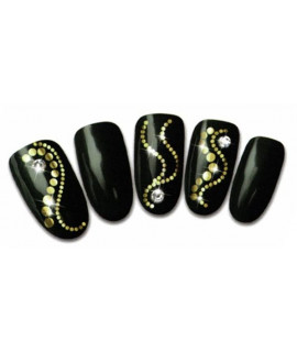 Stickers d'ongles water decals nail art T302 or