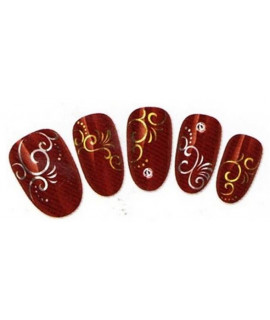 Stickers d'ongles water decals nail art C091 OR