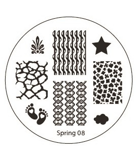 plaque stamping spring 8 pour vernis konad