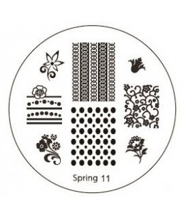 plaque stamping spring 11 pour vernis konad