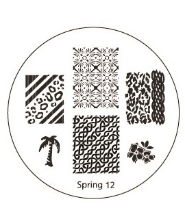 plaque stamping spring 12 pour vernis konad