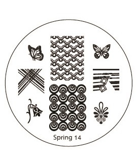 plaque stamping spring 14 pour vernis konad