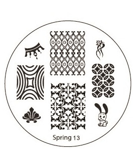 plaque stamping spring 13 pour vernis konad