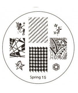 plaque stamping spring 15 pour vernis konad