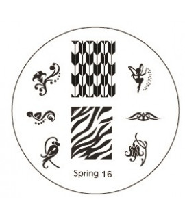 plaque stamping spring 16 pour vernis konad
