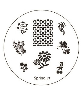 plaque stamping spring 17 pour vernis konad