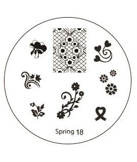 plaque stamping spring 18 pour vernis konad
