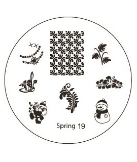 plaque stamping spring 19 pour vernis konad