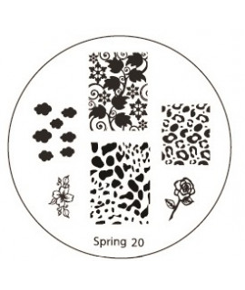 plaque stamping spring 20 pour vernis konad