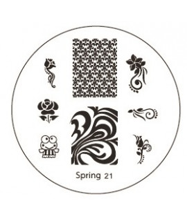 plaque stamping spring 21 pour vernis konad