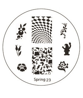 plaque stamping spring 23 pour vernis konad
