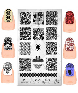 Plaque stamping marianne nails n°79
