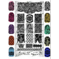 """Nail art stamping Plate Marianne Nails n°101 """"Laces"""""""