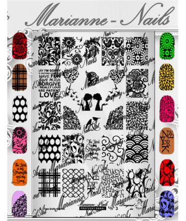 Plaque Marianne Nails Pro n°3