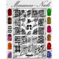 Nail art stamping plate Marianne Nails pro n°3
