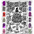 """Nail art stamping plate Marianne Nails pro """"Gala """" n°4"""