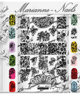 Plaque Marianne Nails Pro n°14