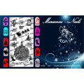 "Nail art stamping plate Marianne Nails ""Christmas"" n°127"