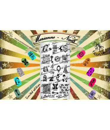Plaque Marianne Nails Vintage n°129
