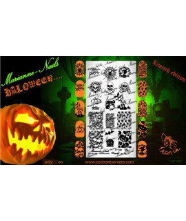 Plaque halloween Marianne nails halloween n°130