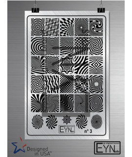 "Nail art stamping plate Eynails "" optical illusion "" n°3"