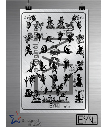 Plaque Eynails Fairies n°11