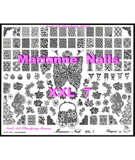 Nail art stamping plate Marianne Nails XXL7