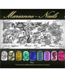 Plaque marianne nails Henna n90